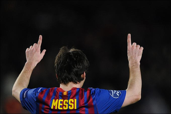 Лионель Месси первый в новой истории Лиги чемпионов, кто забил пять голов в одной игре