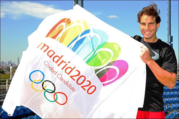 Рафаэль Надаль является активным сторонником заявки столицы Испании на проведении Олимпиады-2020