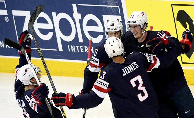Фрагмент матча США — Финляндия