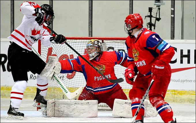 19 апреля 2012 года. Бржецлав. Юниорский чемпионат мира. 1/4 финала. Россия — Канада — 2:4