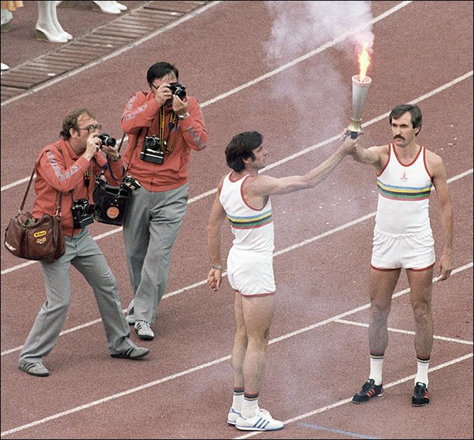 Сергей Белов на церемонии открытия Олимпиады-80 в Москве