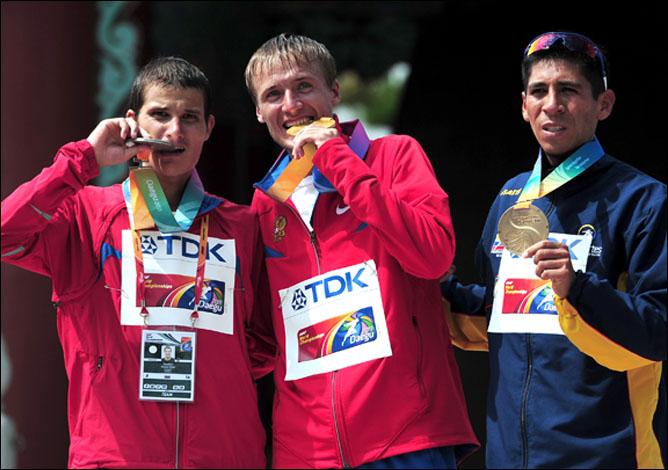Первый подиум сборной России в Тэгу