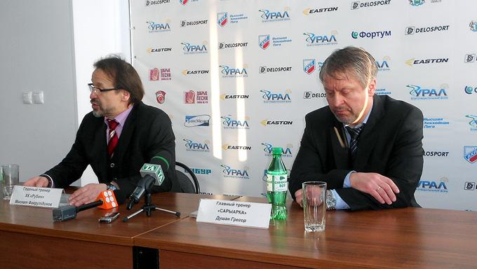 Мисхат Фахрутдинов и Душан Грегор. Говорят, во время матча тренеры сбрасывают до двух килограммов…