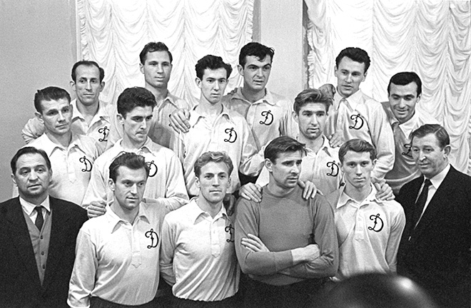 Футбольная команда «Динамо» — чемпион страны по футболу 1959 года