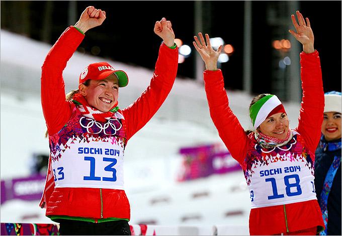 Триумф белорусского биатлона: Домрачева и Скардино