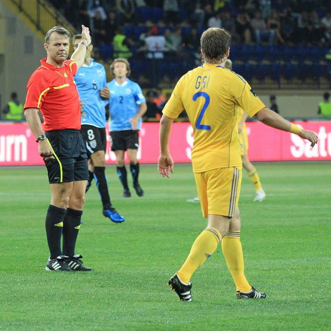 Куйперс судил товарищеский матч сборной Украины против Уругвая в Харькове