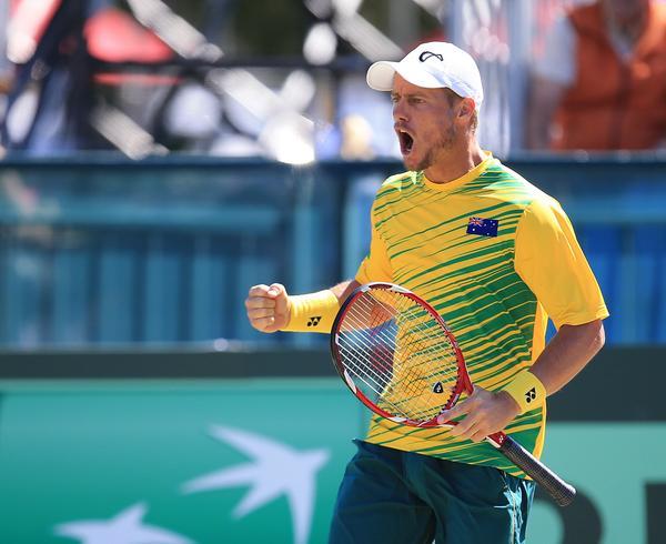 Ллейтон Хьюитт принёс сборной Австралии первое очко в Кубке Дэвиса.