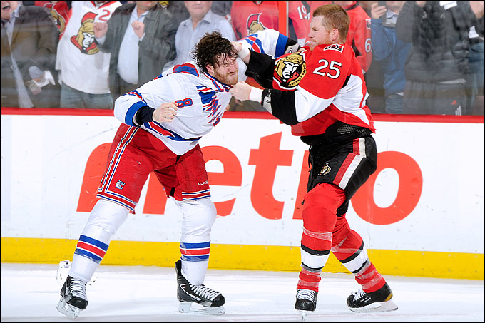 """24 апреля 2012 года. Оттава. Плей-офф НХЛ. 1/8 финала. """"Оттава Сенаторз"""" — """"Нью-Йорк Рейнджерс"""" — 2:3"""