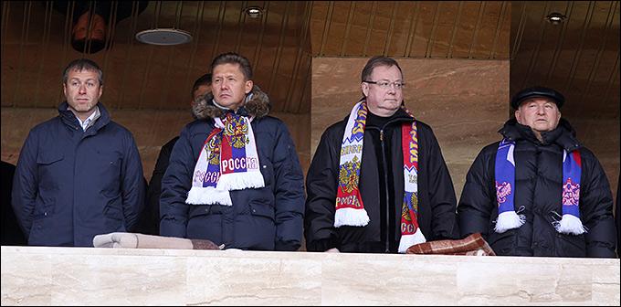 Абрамович, Миллер, Степашин и Лужков — на матче с Азербайджаном
