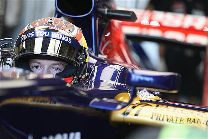 Первые тесты Даниила Квята за рулём болида Формулы-1