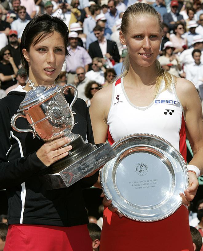 Победительница «Ролан Гаррос»-2004. С Еленой Дементьевой