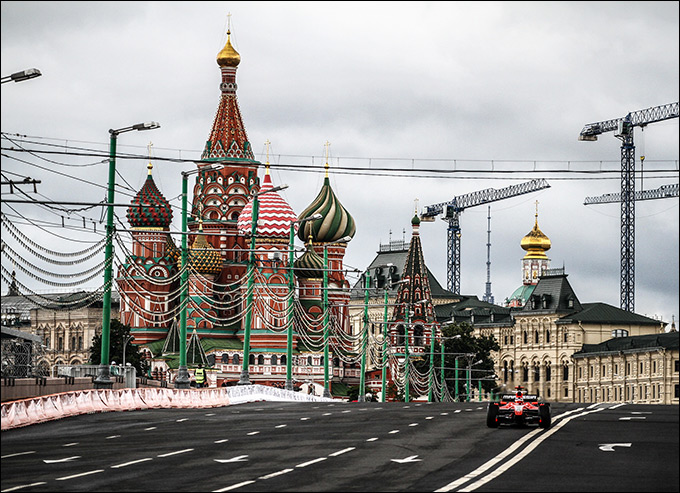 """""""Маруся"""" на Большом Москворецком мосту"""