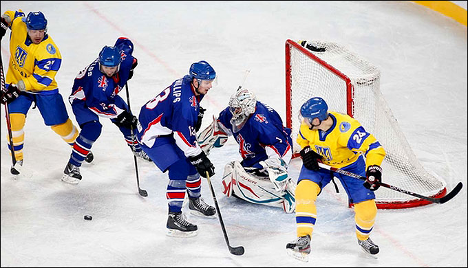 18 апреля 2012 года. Любляна. Чемпионат мира, дивизион I. Украина — Великобритания — 3:4