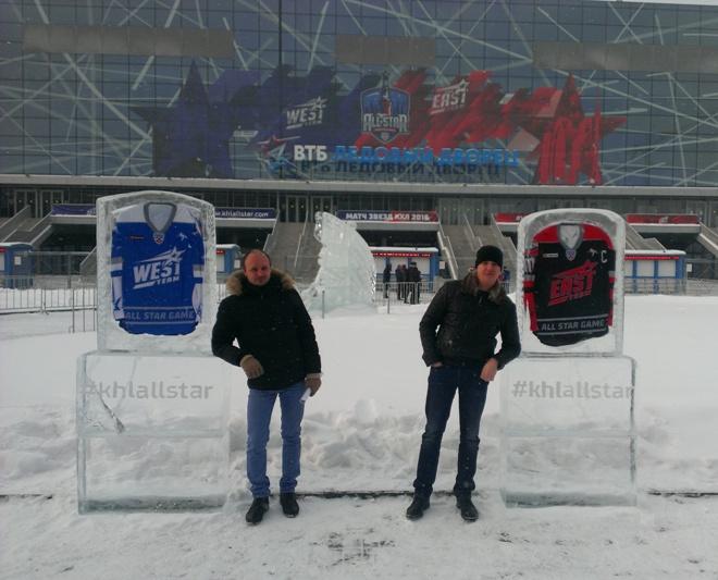 Вмороженные в лёд свитеры капитанов команд