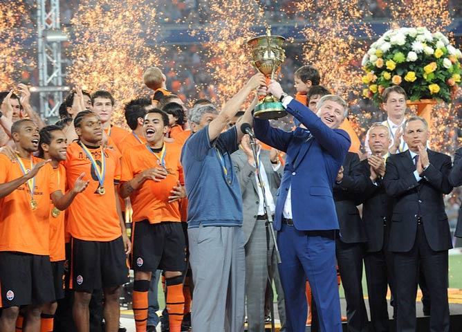 Кубок чемпионов Украины в руках Мирчи Луческу и Рината Ахметова