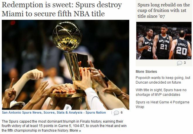 Spurs Nation: «Сладкая месть: «Сан-Антонио» завершил серию в короткие сроки»