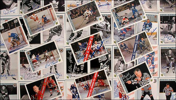 Хоккейные карточки. Фото 01.