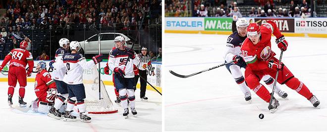 Игровые моменты матча Белоруссия — США
