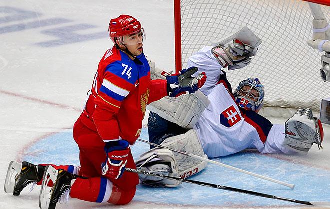 В матче Россия — Словакия дело дошло до буллитов