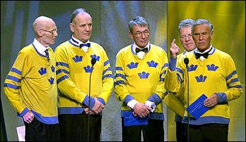 Ниссе Нильссон и герои сборной Швеции 50-60 годов