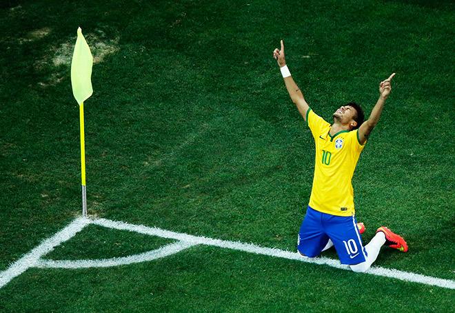 Неймар сделал дубль в первом матче чемпионата мира в Бразилии