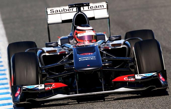 Sauber C32 на тестах в Хересе