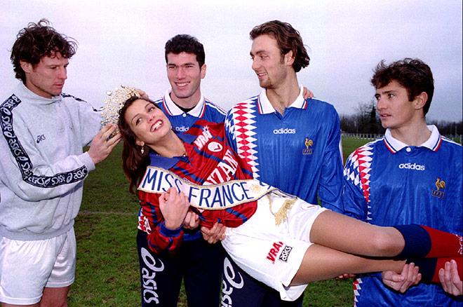 Юный Зидан в составе сборной Франции