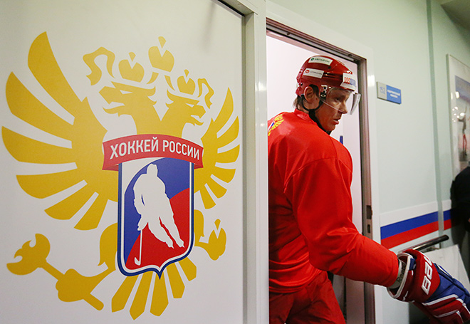 Тренировка сборной России. Александр Сёмин