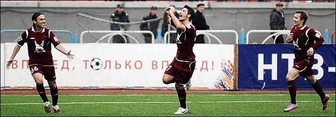 Первый гол в России
