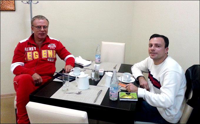Вячеслав Фетисов и Игорь Рабинер. Сочи, февраль 2014 года