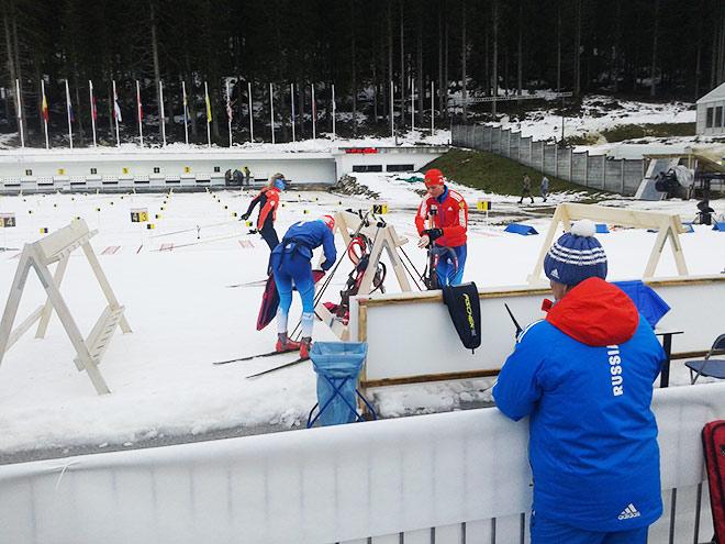 Российская команда готовится к старту этапа в Поклюке