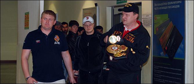 Команда Александра Поветкина привезла чемпионский титул WBA в Москву