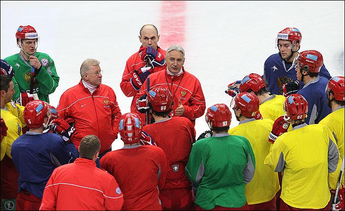 Зинэтула Билялетдинов на тренировке сборной России