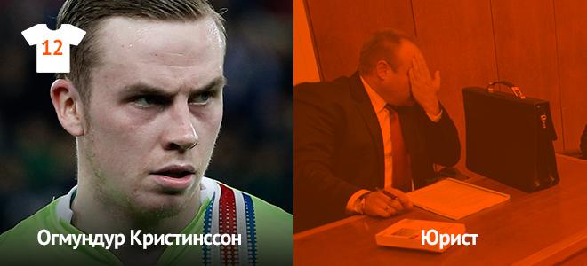 Сейчас: второй вратарь сборной Исландии. Ранее: юрист