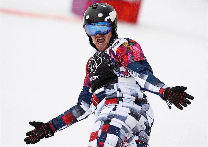 Николай Олюнин завоевал серебро в сноуборд-кроссе