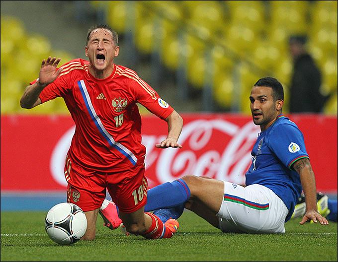 Первый матч текущего отборочного цикла против Азербайджана сложился для Владимира Быстрова и К непросто