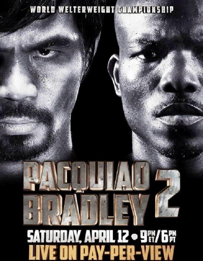 Постер к бою Пакьяо — Брэдли