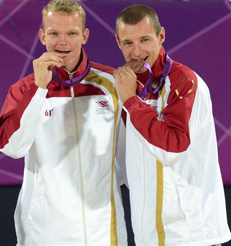 Из Лондона Плавинш и Смединш вернулись с бронзовыми медалями