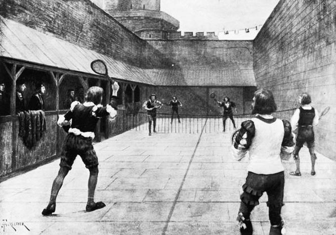Теннисный матч в Англии, во времена короля Генриха VII, первого из дома Тюдоров. Около 1500 года