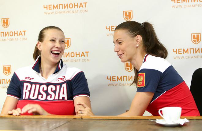 Татьяна Видмер и Анна Лешковцева в гостях у «Чемпионата»
