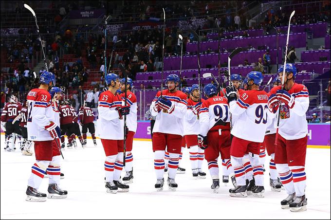 14 февраля 2014 года. Сочи. XXII зимние Олимпийские игры. Хоккей. Групповой этап. Чехия — Латвия — 4:2