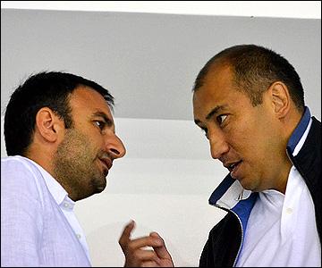 Нурлан Оразбаев (справа) и Шуми Бабаев
