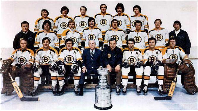"Обладатели Кубка Стэнли 1972 года – ""Бостон Брюинз""."