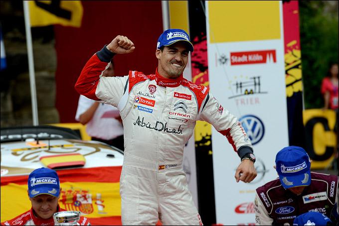 Дани Сордо радуется победе в Германии