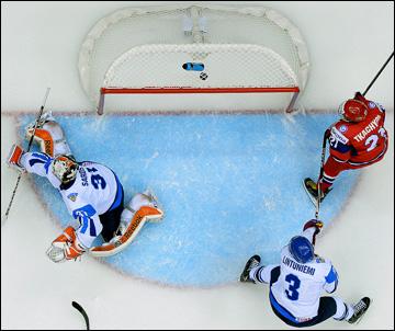 18 апреля 2013 года. Сочи. Юниорский чемпионат мира. Финляндия — Россия — 1:3. Вторая шайба в воротах финнов
