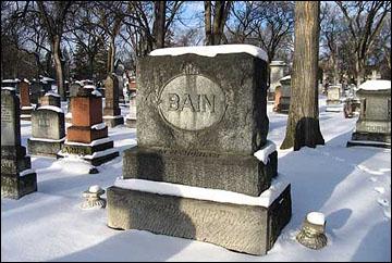 Могила Дэна Бэйна на кафедральном кладбище Виннипега