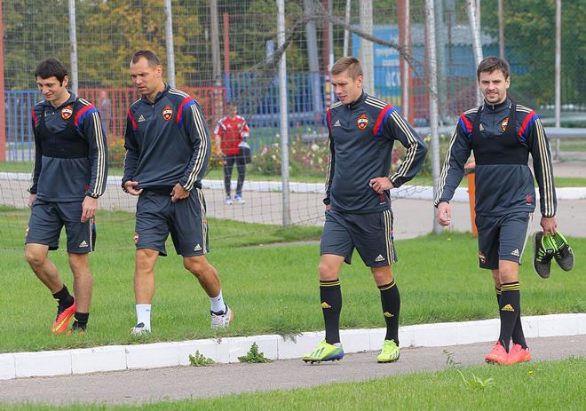Алан Дзагоев, Сергей Игнашевич, Кирилл Набабкин и Георгий Щенников