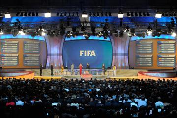 Церемония жеребьёвки чемпионата мира в ЮАР