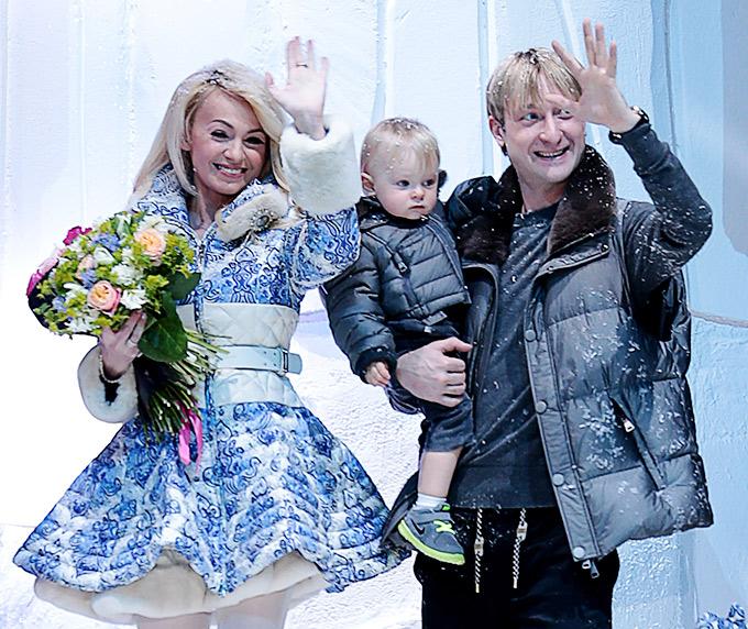 Яна Рудковская, Александр и Евгений Плющенко
