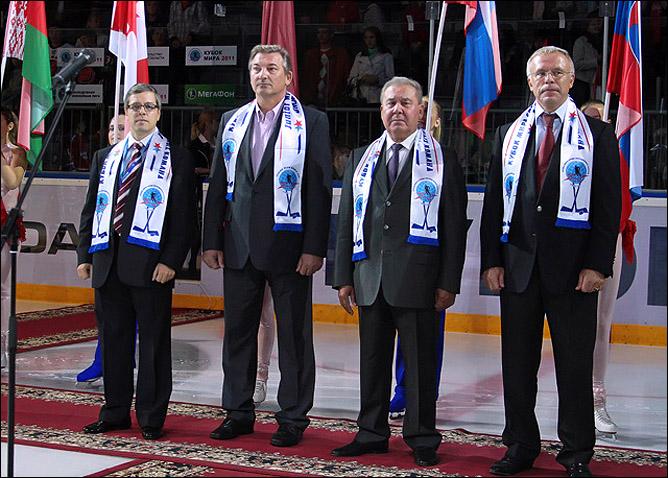 Дмитрий Ефимов, Владислав Третьяк, Леонид Полежаев, Вячеслав Фетисов